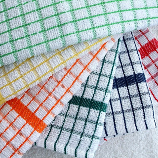 gallery/luxury check tea towels